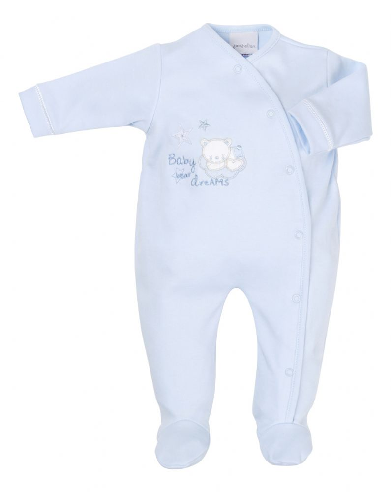 AV1872 Tiny baby bear Cotton sleepsuit (blue)